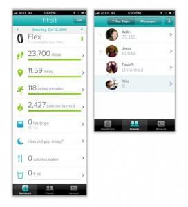 Fitbit screen shots